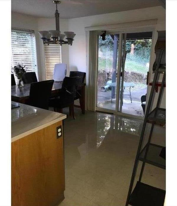 Flooded Dining Room